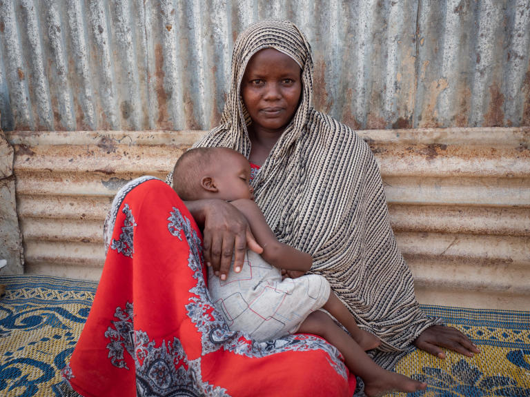 "In September 2019, Mariam Farah Hussein, her husband and seven children fled Mogadishu for Bosaso, on Somalia's northern coastline. The family left their home during shelling on their neighbourhood that subsequently hit and destroyed their home completely.  ""I lived in constant fear. There were a lot of explosions every day. People were killed every day, murdered – anything could happen. Because of this fear we decided to flee.""  ""We have seen a lot of problems. When I left my home, it was hit by bombs. I suffered when I was travelling. After I arrived here, I forgot all my problems and fears. I feel safe.""   Photo: Ingrid Prestetun/NRC"