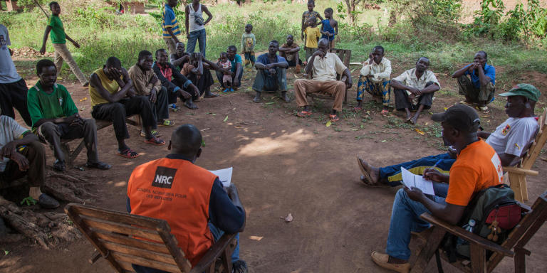 Focus group in Bombe village Photo: NRC/Jose Cendon