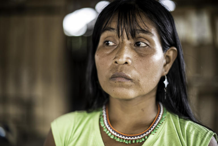 "In October 2017, Melida Isabaré Papelito, 36,  fled with her husband and children from their home to the village of Catrú in Colombia's Chocó region. The thirty-six-year-old woman is part of the indigenous group Embera and in October 2017, one of their community leaders was killed by an armed group.  ""I hope we can get help to survive,"" says Melida.  Her people have lived in this area for generations. Over the years, they have been displaced several times.   In October 2017, more than 1,0000 people fled to the village of Catrú in Colombia's Chocó region.   ""They came because they feared that more people would be killed,"" says one of the community leaders in Catrú, home to the indigenous Embera people.   The Pacific region, particularly Chocó, has become a battleground for clashes between the National Liberation Army (ELN) and another armed group. Indigenous and Afro-Colombian communities have been disproportionally affected. Seven out of ten people displaced this year come from these communities.   In many areas previously controlled by FARC, armed conflict is still ongoing. In some areas, the fighting has increased since FARC laid down their weapons, as armed groups are attempting to take control over strategic areas, natural resources and important drug routes. In many places, paramilitary groups have moved in, causing increased fear among the population. Violence has increased throughout the country, as has the number of local leaders being murdered.  The Norwegian Refugee Council (NRC) has been present in Colombia since 1991. In Chocó, we inform indigenous groups about their rights and provide legal aid in questions relating to land rights and compensation after having been forced to flee. In Catrú we help make sure that children get to go to school, and provide clean water to the community.   Photo: Ana Karina Delgado Diaz/NRC"