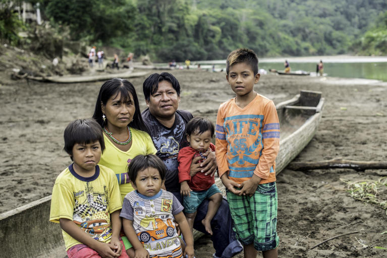 "Melida Isabaré Papelito, her husband Anancio Roja and their children.  In October 2017, Melida Isabaré Papelito, 36,  fled with her husband and children from their home to the village of Catrú in Colombia's Chocó region. The thirty-six-year-old woman is part of the indigenous group Embera and in October 2017, one of their community leaders was killed by an armed group.  ""I hope we can get help to survive,"" says Melida.  Her people have lived in this area for generations. Over the years, they have been displaced several times.   In October 2017, more than 1,0000 people fled to the village of Catrú in Colombia's Chocó region.   ""They came because they feared that more people would be killed,"" says one of the community leaders in Catrú, home to the indigenous Embera people.   The Pacific region, particularly Chocó, has become a battleground for clashes between the National Liberation Army (ELN) and another armed group. Indigenous and Afro-Colombian communities have been disproportionally affected. Seven out of ten people displaced this year come from these communities.   In many areas previously controlled by FARC, armed conflict is still ongoing. In some areas, the fighting has increased since FARC laid down their weapons, as armed groups are attempting to take control over strategic areas, natural resources and important drug routes. In many places, paramilitary groups have moved in, causing increased fear among the population. Violence has increased throughout the country, as has the number of local leaders being murdered.  The Norwegian Refugee Council (NRC) has been present in Colombia since 1991. In Chocó, we inform indigenous groups about their rights and provide legal aid in questions relating to land rights and compensation after having been forced to flee. In Catrú we help make sure that children get to go to school, and provide clean water to the community.   Photo: Ana Karina Delgado Diaz/NRC"