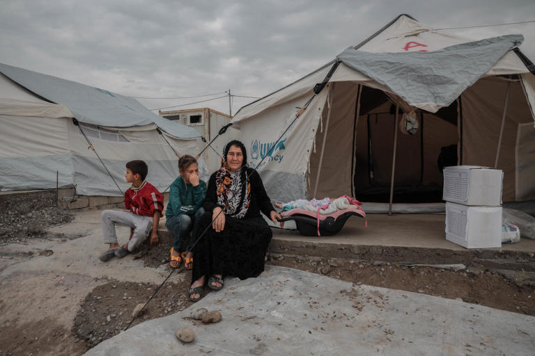 "26.10.2019 Zubaydah had to flee with her family due to Turkish military operation in northeast Syria. She crossed the border and found refuge in Bardarash camp, where she stays with her children and grandchildren.  ""There were airstrikes and shelling every day on Raas Al-ain, many people got killed, we had to flee to survive,"" she said.   ""When we arrived at the camp, we were exhausted and we had nothing. People helped us a lot, they gave us a tent, mattresses, blankets, hygiene items and food,"" she added.  As a part of our response, we distributed 250 Hygiene and 250 Dignity kits in Bardarash camp. Our team visited families tent by tent to deliver the kits. In addition, 1,500 mattresses and 250 heaters will be distributed as well as 291 pregnancy kits and 2043 baby kits on their way from Mosul.  ""These kits will help us to keep our dignity, that's all we have left. We will be able to wash ourselves and it will allow us to keep the baby clean and healthy,"" said Zubaydah.  Photo: Alan Ayoubi/NRC"