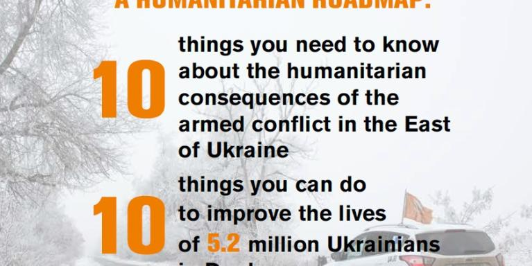 Front page of Humanitarian roadmap: key messages.